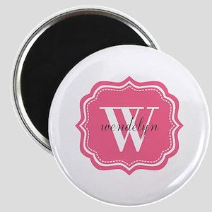 Pink Custom Personalized Monogram Magnet