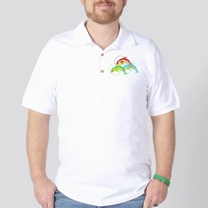 Colorful Flying Dolphins Golf Shirt
