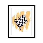 Checker Flag Framed Panel Print