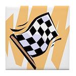 Checker Flag Tile Coaster