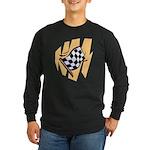 Checker Flag Long Sleeve Dark T-Shirt