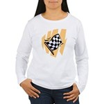 Checker Flag Women's Long Sleeve T-Shirt