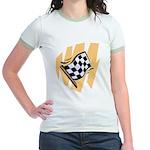 Checker Flag Jr. Ringer T-Shirt