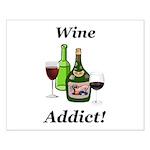Wine Addict Small Poster