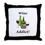Wine Addict Throw Pillow
