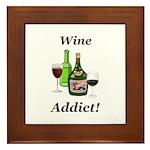 Wine Addict Framed Tile