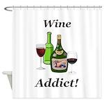 Wine Addict Shower Curtain