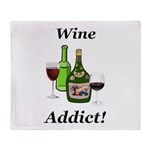 Wine Addict Throw Blanket