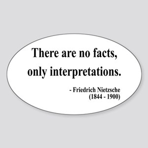 Nietzsche 7 Oval Sticker