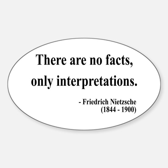 Nietzsche 7 Oval Decal