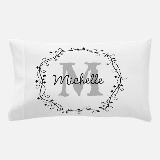 Personalized vintage monogram Pillow Case