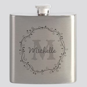 Personalized Vintage Monogram Flask For Women