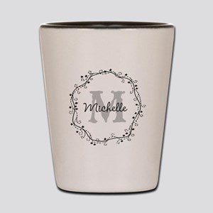 Personalized vintage monogram Shot Glass