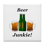 Beer Junkie Tile Coaster