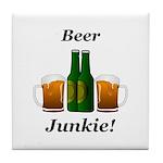 Beer Junkie Tile Coaster