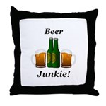 Beer Junkie Throw Pillow