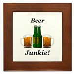 Beer Junkie Framed Tile