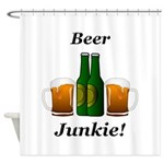 Beer Junkie Shower Curtain