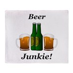 Beer Junkie Throw Blanket