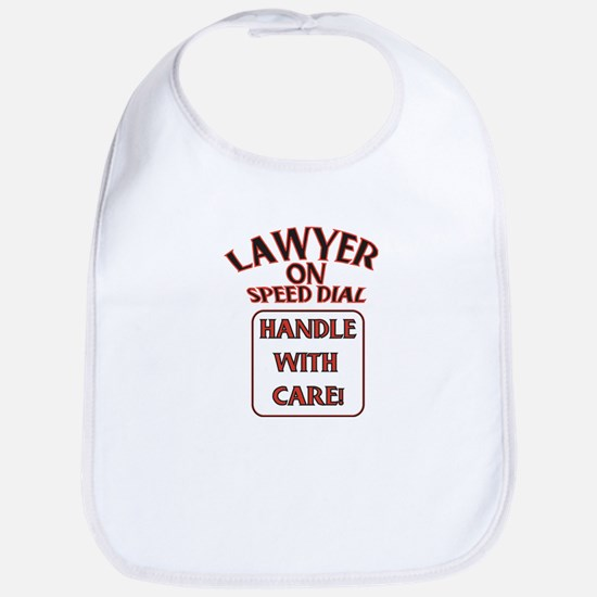 Lawyer Baby Bib (white)