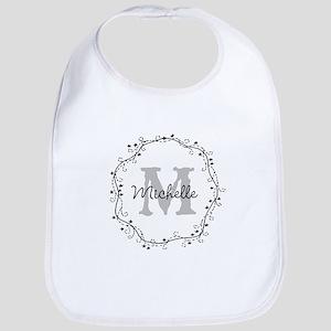 Personalized Name Monogram Baby Bib