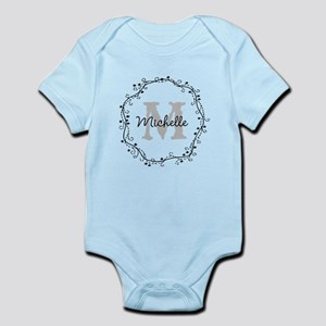 Personalized Monogram Body Suit For Cute Baby Girl