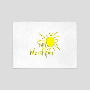 sun worshiper 5'x7'Area Rug