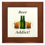 Beer Addict Framed Tile