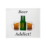 Beer Addict Throw Blanket