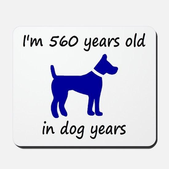 80 dog years blue dog 1C Mousepad