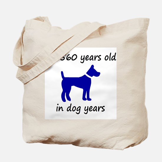 80 dog years blue dog 1C Tote Bag
