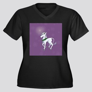 Christmas Unicorn Plus Size T-Shirt