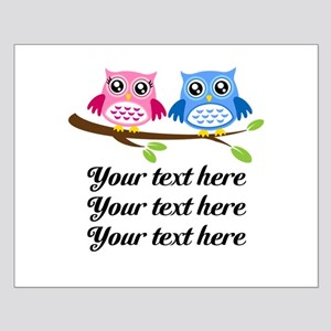 personalized add text Owls Posters