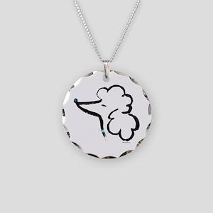 Poodle Portrait Necklace Circle Charm