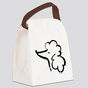 Poodle Portrait Canvas Lunch Bag