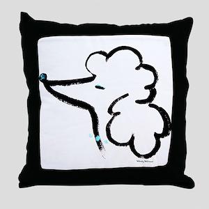 Poodle Portrait Throw Pillow