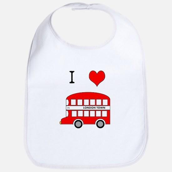 I Love London Bus Bib