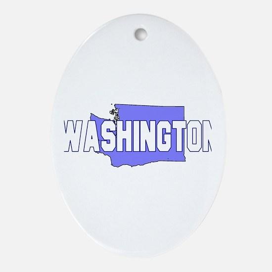Visit Scenic Washington Oval Ornament