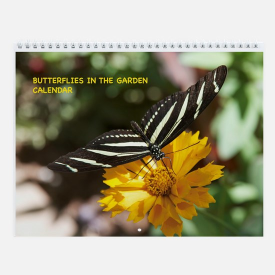 Butterflies In The Garden Wall Calendar