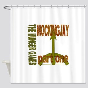 The Hunger Games Mockingjay Part On Shower Curtain