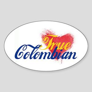 True Colombian ... Sticker (Oval)