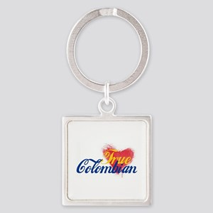 True Colombian ... Square Keychain