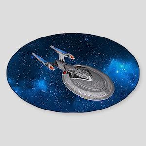 STARTREK 1701E STARRY SPACE Sticker