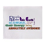 Awesome Words Throw Blanket