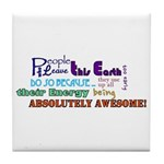 Awesome Words Tile Coaster
