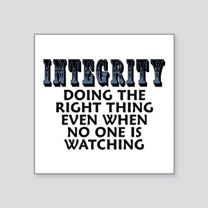 "Integrity - Square Sticker 3"" x 3"""