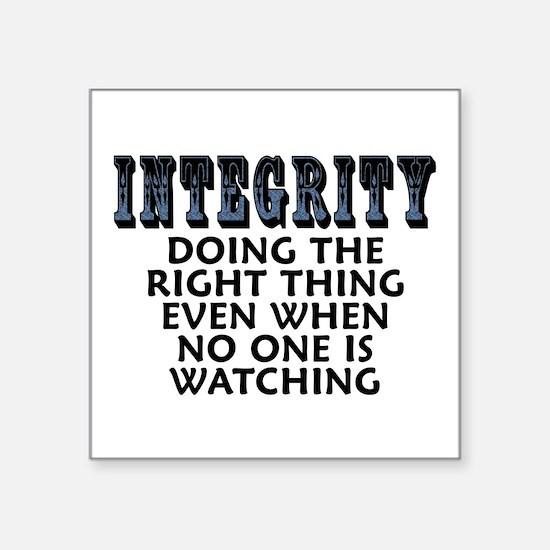 """Integrity - Square Sticker 3"""" x 3"""""""