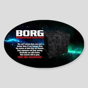 BORG RELENTLESS Sticker (Oval)