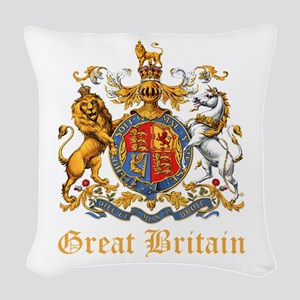 Royal Coat Of Arms Woven Throw Pillow