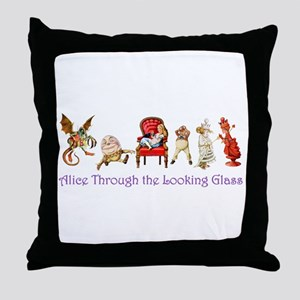 Alice Purple 5 Throw Pillow